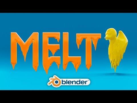 Blender - Melting Animation Tutorial Blender 2.8 thumbnail