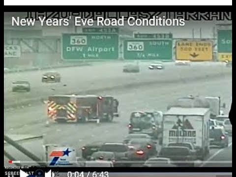 New Yrs Eve Dallas Rd Conditions DFW