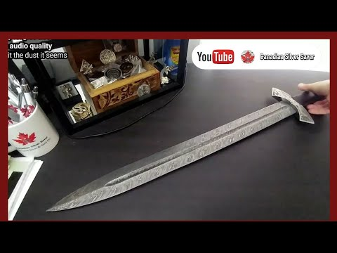 "Unboxing a beautiful 24"" blade Damascus sword from ACEZ Damascus Imports Watch for your 10% off code"