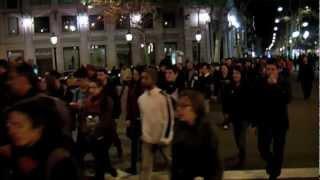 1f manifestacin bcn rajoy dimisin indignados contra la corrupcin pp brcenas i ciu