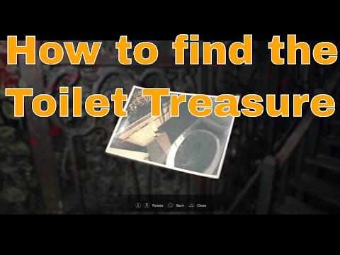 Resident Evil 7  Old House Treasure Photo toilet treasure  Photo location Guide
