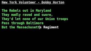 Watch Bobby Horton New York Volunteer video