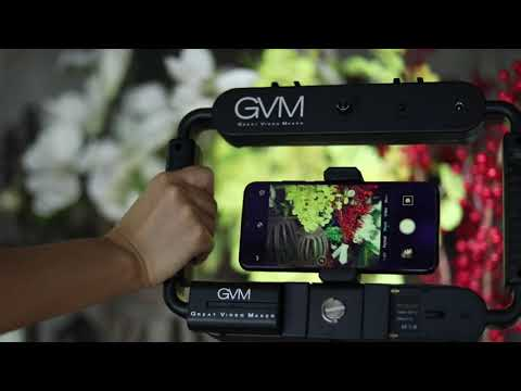 GVM LT-10S Smartphone Video Camera Rig Light with Bluetooth Control