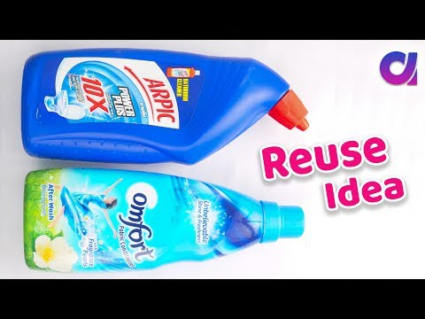 Harpic bottle craft | best out of waste | reuse idea  | Artkala