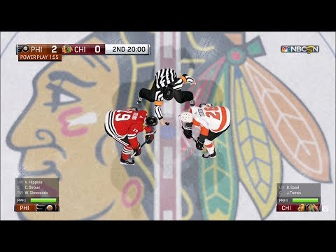 NHL 18 - Chicago Blackhawks vs Philadelphia Flyers - Gameplay (HD) [1080p60FPS]
