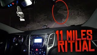 11 Miles Ritual on Clinton Road! (MOST DANGEROUS GAME ON MOST HAUNTED ROAD!)