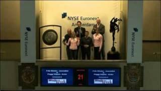 Frits Wester en Peggy Vrijens openen handelsdag van de NYSE Euronext