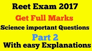 REET SCIENCE IMPORTANT QUESTIONS WITH  HINDI EXPLANATIONS LEVEL1 &2 II REET SCIENCE SOLVED PAPER II