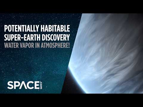 Potentially Habitable Super-Earth Has Water Vapor in Atmosphere
