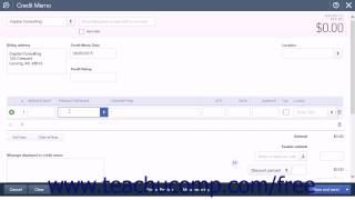 QuickBooks Online Plus 2015 Tutorial Creating a Credit Memo and Refund Check Intuit Training