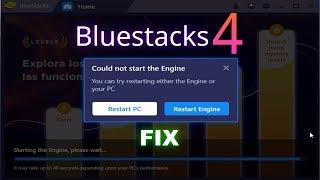 Could not start the engine BLUESTACKS 4 | Fix Windows 10