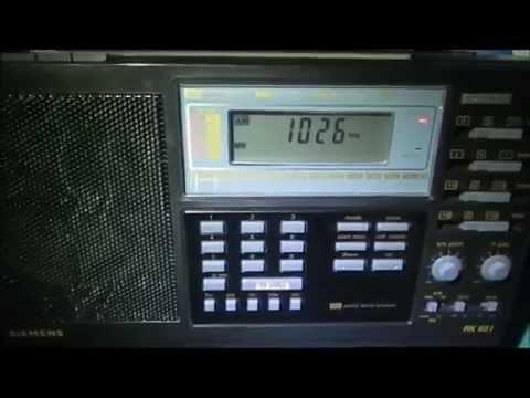 1026 Khz IRIB Radio Tabriz received in Germany on a Siemens RK 651