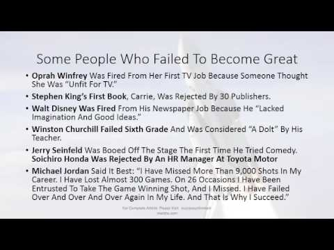 How To Fail More to Gain More - Glory, Success, Wealth - 19 Methods