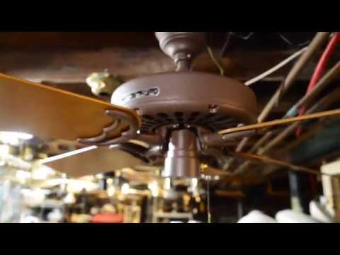 "Hunter/R&M Original Reverse-aire 52"" Ceiling Fan, Model 22272 (c. 1982)"