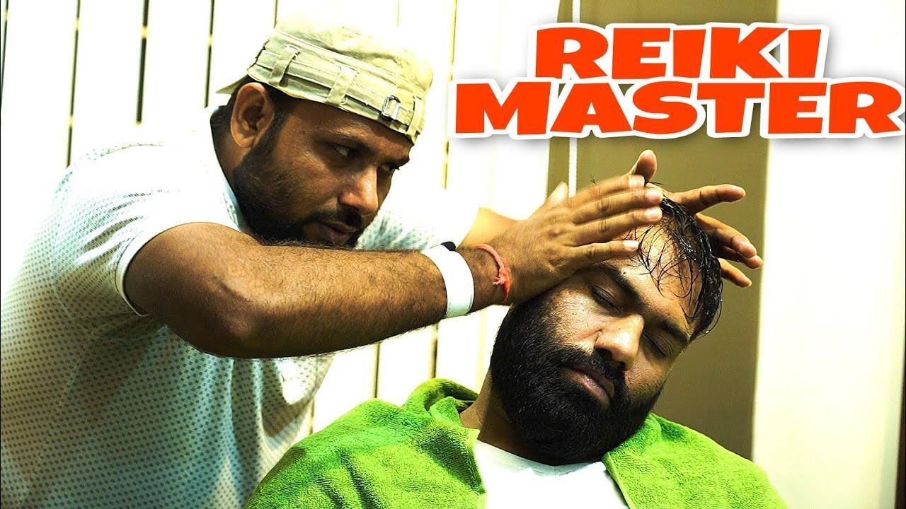 REIKI MASTER HEAD MASSAGE & BODY MASSAGE FOR BETTER SLEEP 💈INDIAN BARBER💈 RELAXING ASMR
