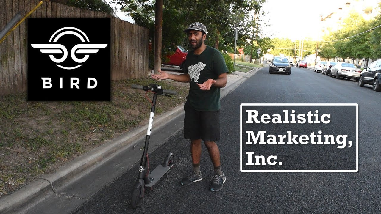 Bird Electric Scooters Realistic Marketing Inc Youtube