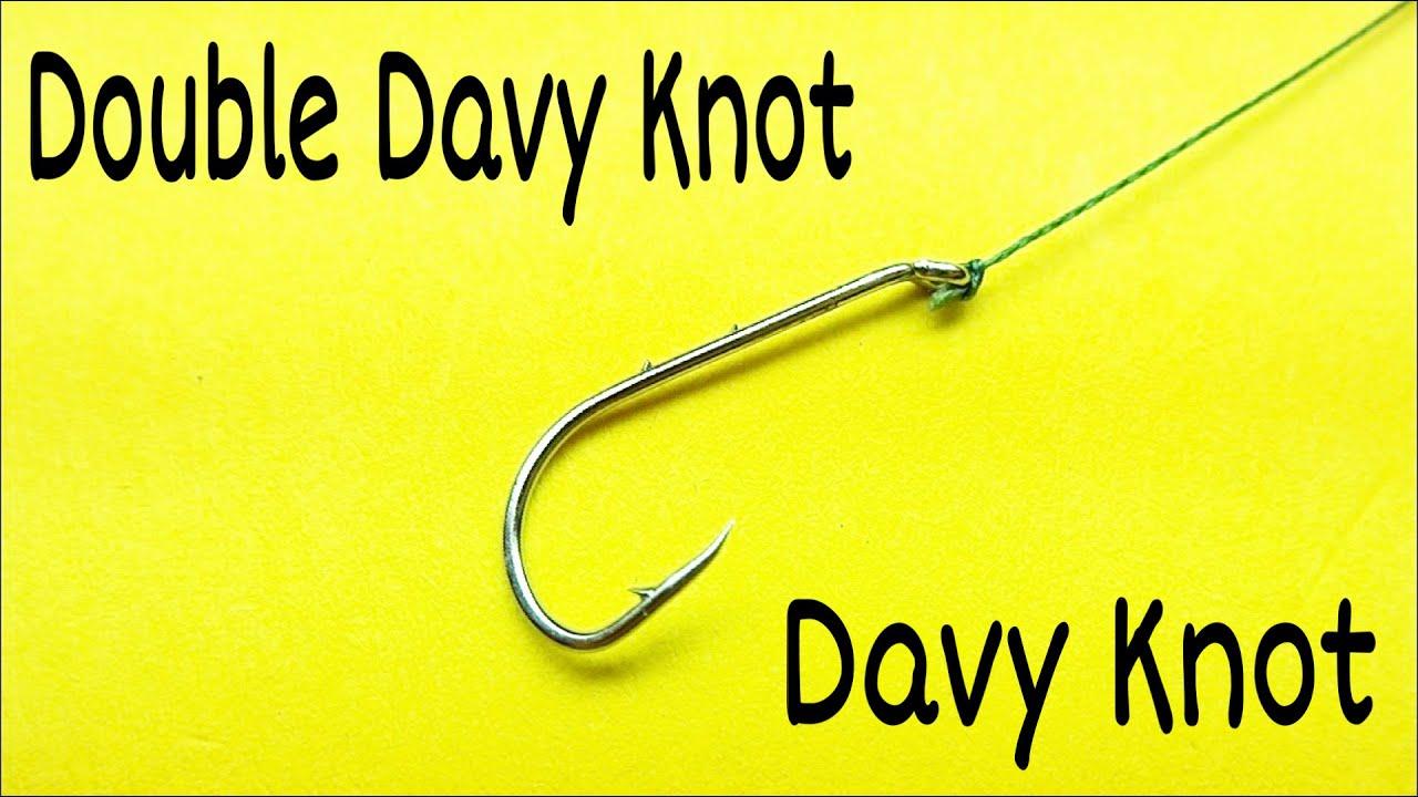 Лучший рыболовный узел double davy knot. Как привязать крючок к леске. Рыболовные узлы и самоделки