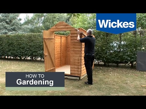 How to build a garden shed onto a wooden shed base with Wickes