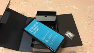 Распаковка (unpacking) Samsung Galaxy Note 9