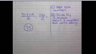 Average of two numbers