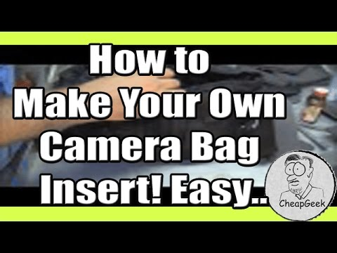 how to make your own camera bag insert easy youtube. Black Bedroom Furniture Sets. Home Design Ideas