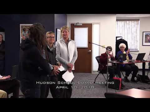 Hudson School Board April 10, 2018