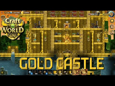 Gold castle. Jungle planet►Craft the World |