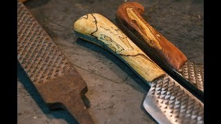 крутой самодельный нож из напильника. Часть 1