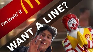 OFFERING MCDONALDS WORKER A LINE?!?