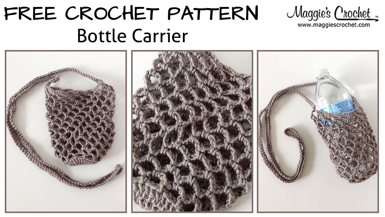 Bottle carrier free crochet pattern right handed youtube bankloansurffo Choice Image