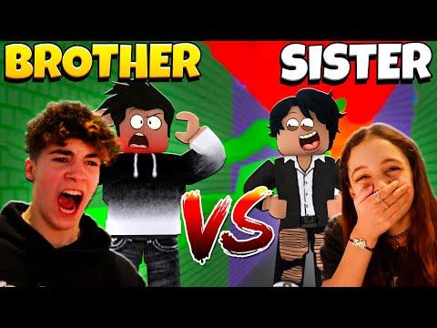 Little Sister VS Brother RAGE RUNNER! Winner gets $10,000 ROBUX!  