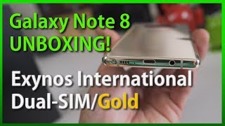 Galaxy Note 8 Unboxing! [Exynos International Dual-SIM/Gold]
