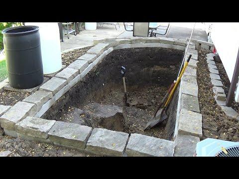 Building A New Garden Koi Pond (Part 1 Of 5) - Backyard Fish Pond Documentary