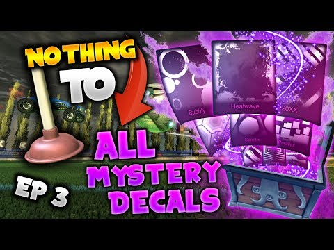 NOTHING TO EVERY MYSTERY DECAL IN ROCKET LEAGUE! *EP 3* Trading To All Black Market Decals!