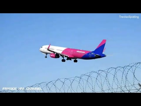 Airplanes landing and take offs Treviso Airport | Ryanair Pobeda WizzAir | Plane spotting italy