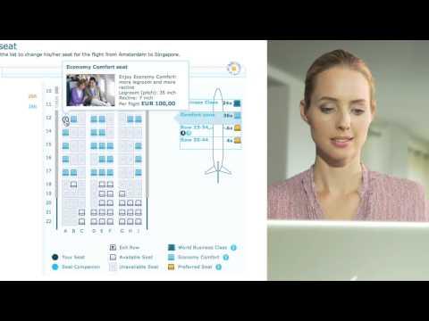 KLM online check-in instruction