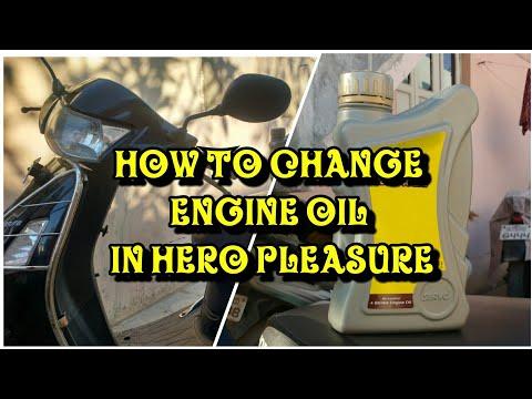 How To Change Engine Oil in HERO Pleasure