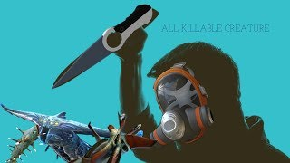 Subnautica - all killable fauna and their death animations