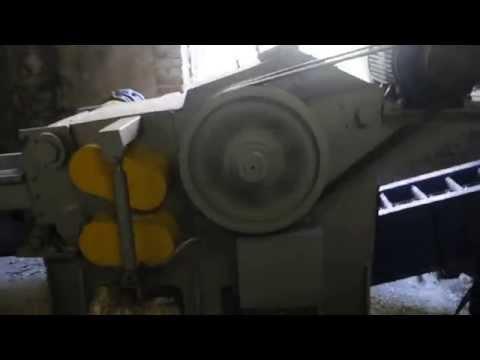 Работа рубительной машины