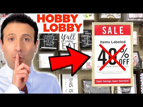 10 Shopping SECRETS Hobby Lobby Doesn't Want You To Know!