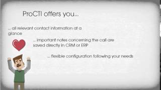 ProCTI - Computer Telephony Integration of your ERP or CRM  with Lync or  TAPI telephone system