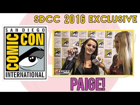 PAIGE - WWE Superstar Interview at San Diego Comic Con (SDCC) 2016!