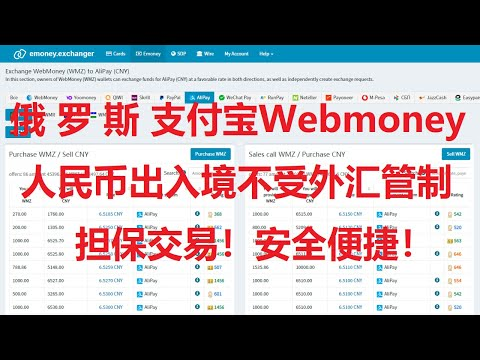 走资方法:利用俄罗斯支付宝Webmoney,实现人民币安全合法出入境,跨境汇款、货币兑换。不受外汇管制,担保交易,安全便捷!