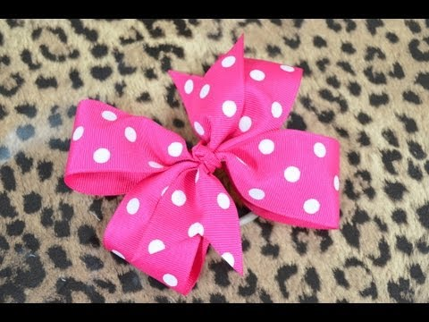 How To Make A Pinwheel Hair Bow