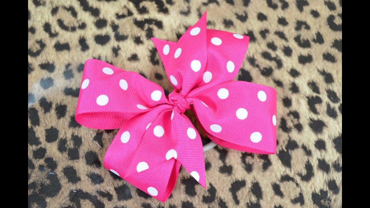 make pinwheel hair bow