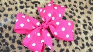 Repeat youtube video How To Make A Pinwheel Hair Bow