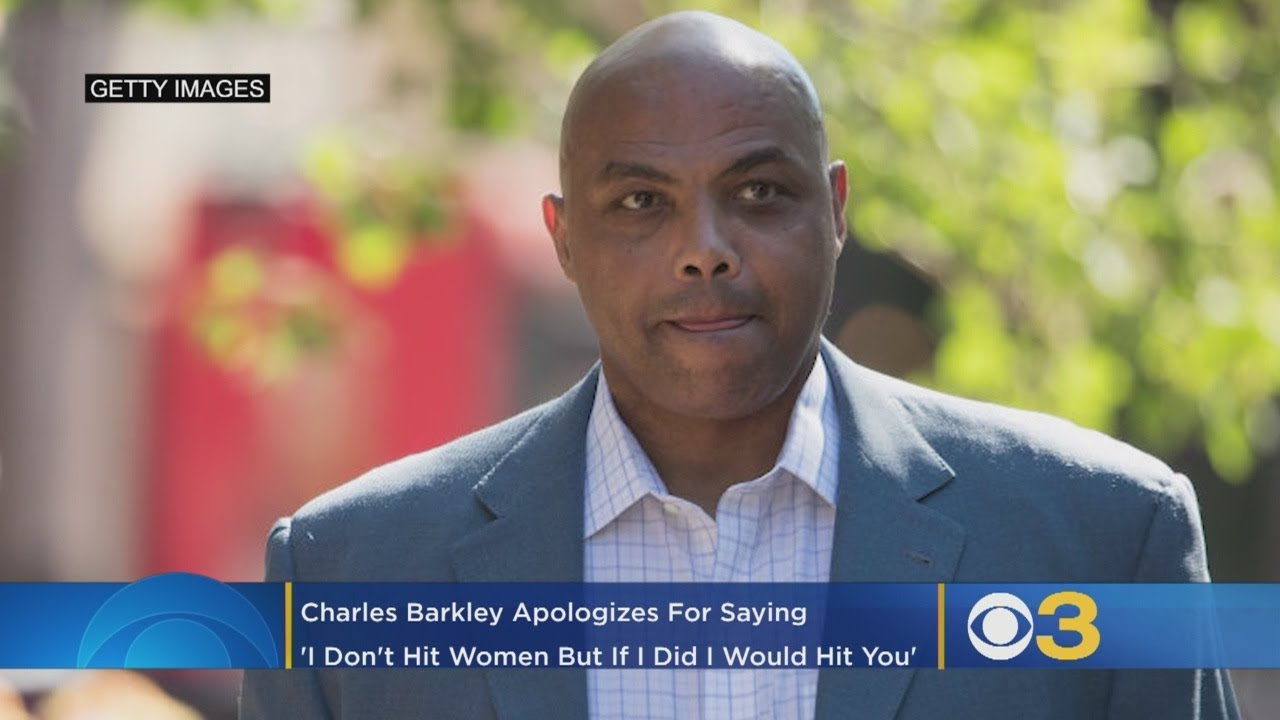 Charles Barkley apologizes for telling reporter, 'I don't hit women, but ...