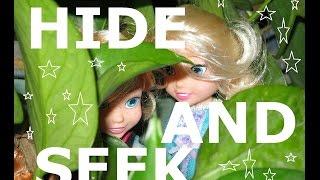 Disney Princess Anna Elsa Olaf Kristoff Frozen Baby Friends Play Hide and Seek Garden Frozen Dolls