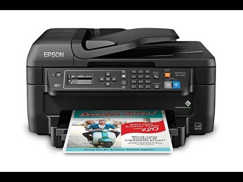 Epson wf  2860, 2630 - How To Clean Printhead - Not Printing Black