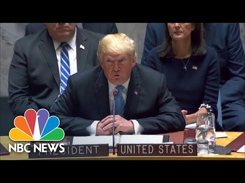 President Donald Trump: Iran's Aggression Increased After Nuclear Deal | NBC News